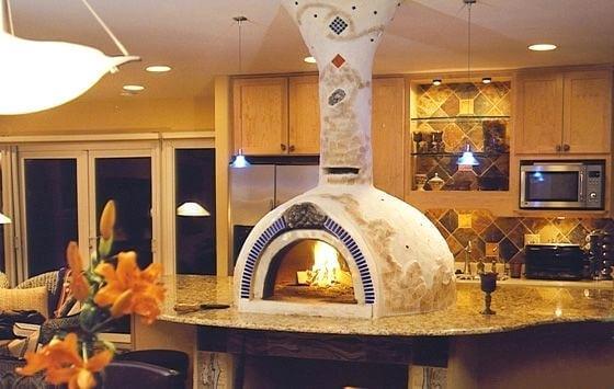 pizza oven island