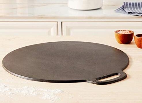 cast iron pan on table